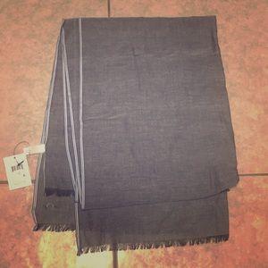 Accessories - Calvin Klein Black Blue Cotton Women Scarf OS